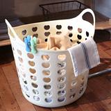 【收納職人】可提式心型透氣孔洗衣籃L號+收納籃S號
