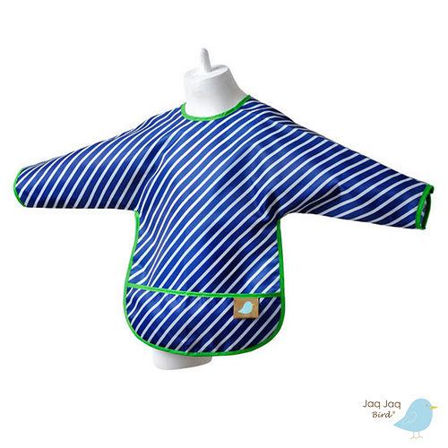 美國 Jaq Jaq Bird 多功能學習衣 (藍色斜紋)