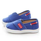 ELLE 小童 魔鬼氈簡約學步鞋ELKK42596-藍