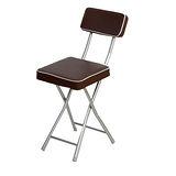 丹寧 方型厚墊折疊椅-咖啡色