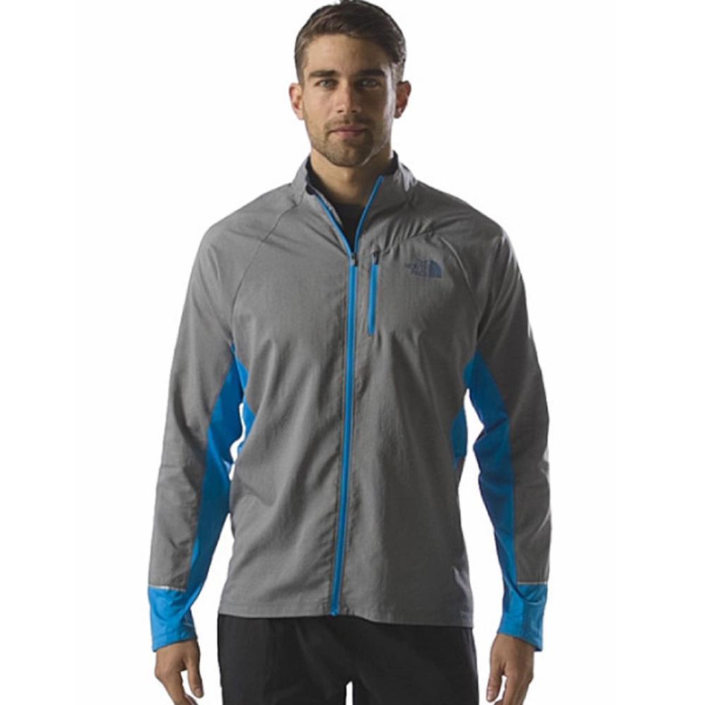 【美國 The North Face】男新款 FlahDry閃電快乾風衣外套.極致輕薄跑步外套.吸濕排汗衣.運動上衣/機能性快乾科技/CCY2 石碑灰/鵝毛筆藍