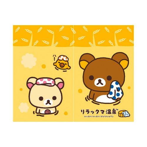 拉拉熊Rilakkuma黃色溫泉中門簾85x68cm(RKD20806)