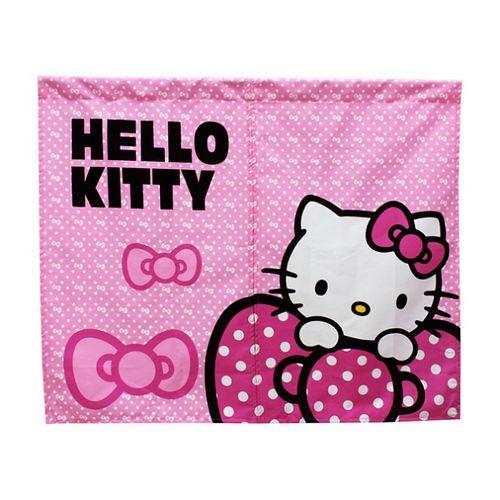 Hello Kitty蝴蝶結中門簾85x68cm(KT0228)