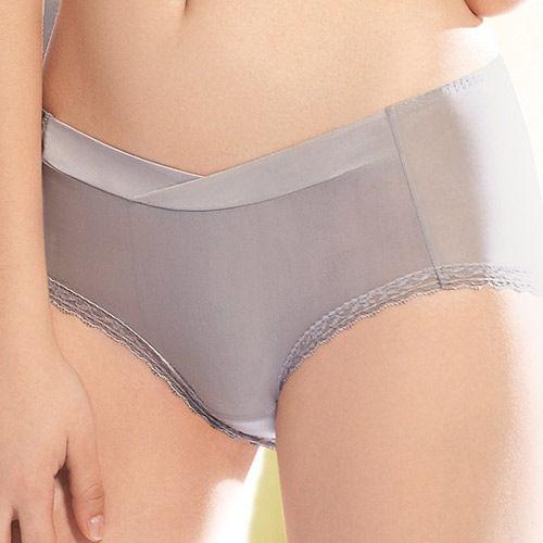 【華歌爾】輕柔記形M-LL中腰蕾絲平口褲(可可棕)