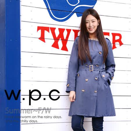 【w.p.c.】雙排釦圓領款。時尚雨衣/風衣