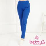 betty's貝蒂思 兩側拉鍊設計彈性長褲(深藍)
