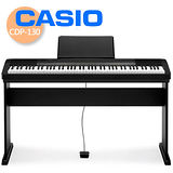 【CASIO 卡西歐】簡約風88鍵數位鋼琴/琴罩/琴椅/耳機 公司貨保固 (CDP-130)