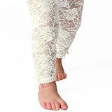 美國 Baby Emporio 造型棉襪 蕾絲緊身褲 女嬰 嬰兒褲襪 白色 6-12M 12-18M