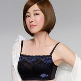 【Audrey】輕透V弧蝶 抹胸款 B-D罩內衣(不敗黑)