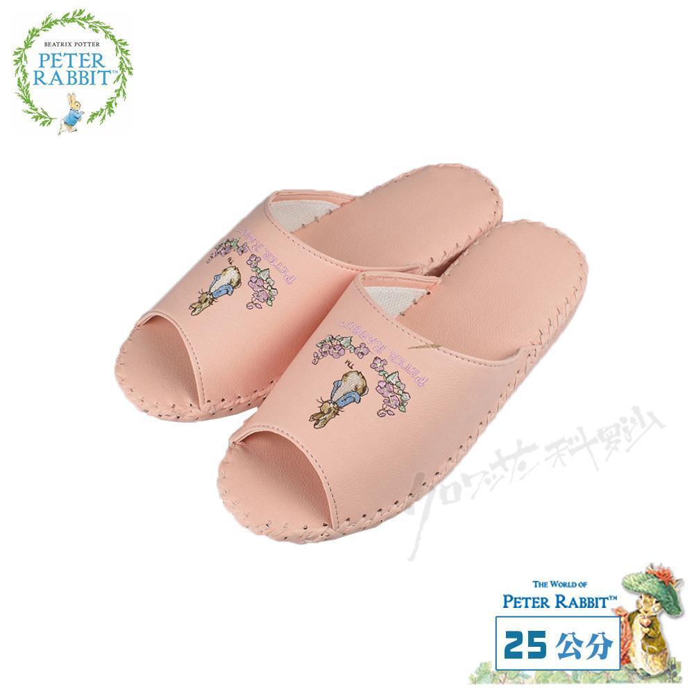 【クロワッサン科羅沙】Peter Rabbit 室內鞋 花園皮拖 淺粉25CM