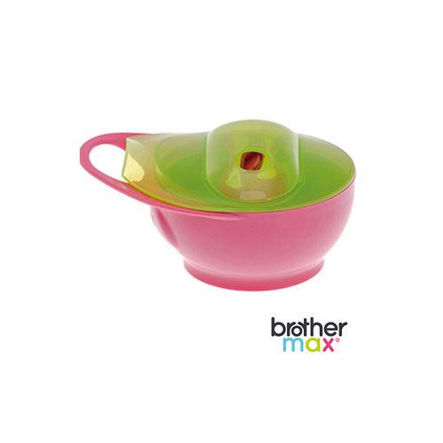 英國 Brother Max 輕鬆握攜帶型學習碗 - 粉紅 (附2支感溫湯匙)
