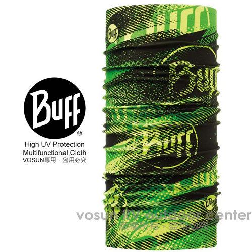 【西班牙 BUFF】High UV 高防曬 COOLMAX系列抗UV萬用魔術頭巾.超彈性.口罩.伸縮/ BF108576 閃電萊姆