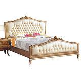 AT HOME-蘿兒6尺法式香檳色雙人床台(不含床墊)