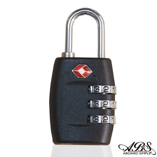 ABS愛貝斯 美國認可TSA國際海關鎖 典雅黑 99-018