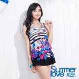【SUMMERLOVE 夏之戀】花漾連身裙三件式泳衣S15708