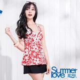 【SUMMERLOVE 夏之戀】豔麗佳人長版三件式泳衣S15732