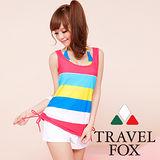 【TRAVELFOX 旅狐】新航海風四件式泳衣C13714