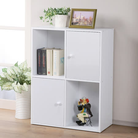 Homelike現代風四格二門置物櫃