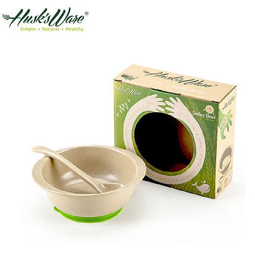 ~美國Husk's ware~稻殼天然無毒環保兒童小餐碗 附小湯匙 ~綠色