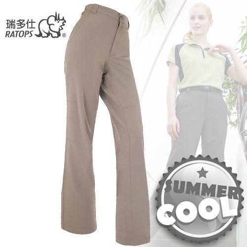 【RATOPS】女款 彈性快乾休閒長褲.輕薄、強韌、舒適、耐磨/ 暗褐色 DA3177 B