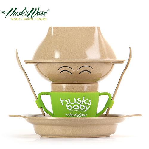 ~美國Husk's ware~稻殼天然無毒環保兒童餐具 人偶款~綠色
