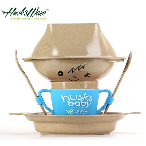 ~美國Husk's ware~稻殼天然無毒環保兒童餐具 人偶款~藍色