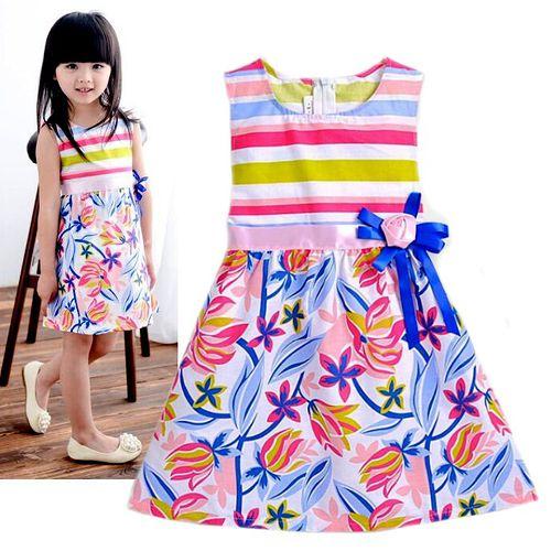夏日《彩虹花朵款》甜美氣質小洋裝【現貨+預購】
