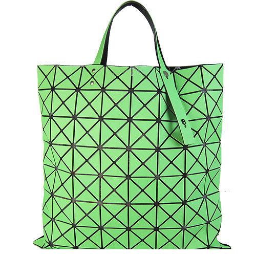 ISSEY MIYAKE 三宅一生BAOBAO幾何方格8x8手提包(霧面螢光綠)