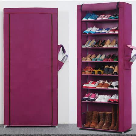 超大加高九層簡易防塵鞋櫃 -friDay購物