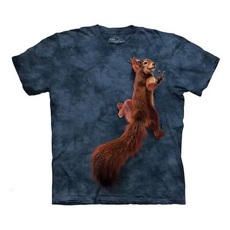 【摩達客】(預購)  美國進口The Mountain 和平松鼠 純棉環保短袖T恤
