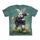 【摩達客】(預購) 美國進口The Mountain 愛麗絲夢遊白兔 純棉環保短袖T恤