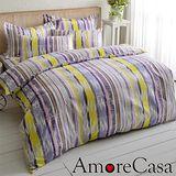 【AmoreCasa】彩繪天地 玫瑰絨加大四件式被套床包組