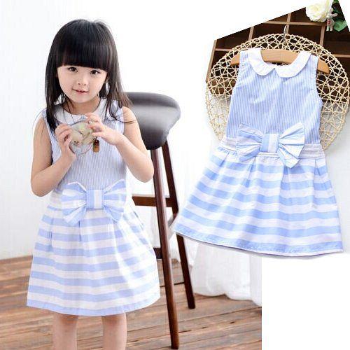 夏日《條紋蝴蝶結-藍色》甜美氣質小洋裝【現貨+預購】