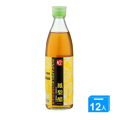 百家珍鳳梨醋600ml*12