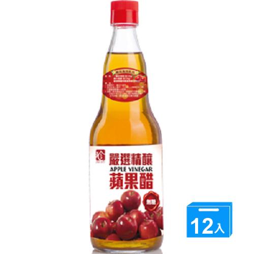 百家珍 嚴選精釀無糖蘋果醋600ml*12