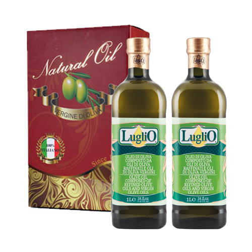 LugliO 義大利羅里奧特級橄欖油禮盒組(1000mlx2入)
