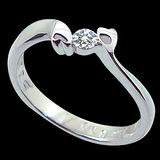 MANSTYLE 愛的蜜語 0.10ct 鑽石戒指