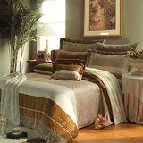 《KOSNEY 豹紋仙境 》雙人100%天絲TENCEL八件式兩用被床罩組
