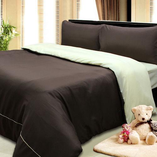 《KOSNEY  紳士之美》3M吸濕排汗專利+涼感紗四件式雙人床包被套組台灣製造