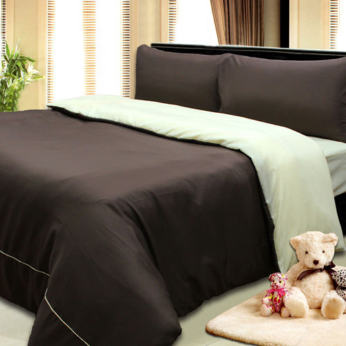 《KOSNEY  紳士之美》3M吸濕排汗專利+涼感紗四件式加大床包被套組台灣製造