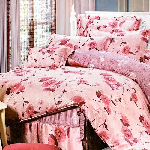 《KOSNEY 浪漫之戀》加大100%天絲TENCEL四件式兩用被床包組