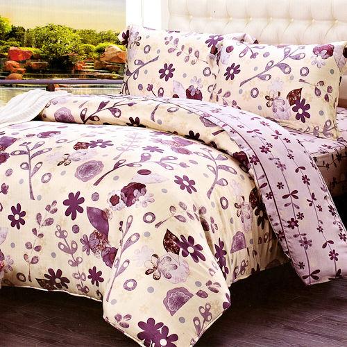 《KOSNEY 盛夏的花朵》加大100%天絲TENCEL四件式兩用被床包組