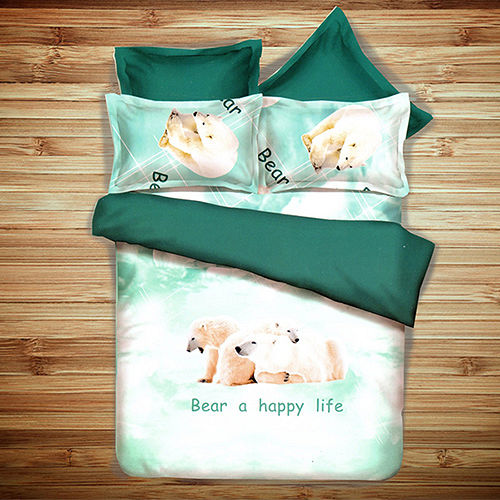 《KOSNEY 北極之心》頂級雙人天絲絨四件式床包被套組