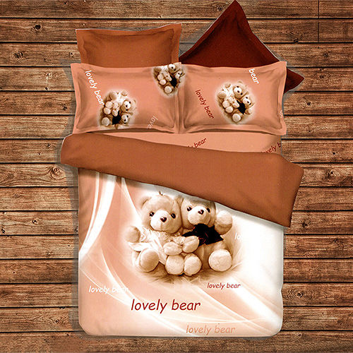 《KOSNEY 幸福婚禮》頂級雙人天絲絨四件式床包被套組