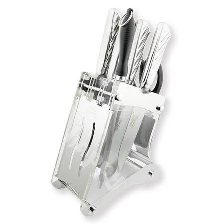 米雅可經典七件式刀具組附壓克力座菜刀剁刀水果刀廚房剪刀