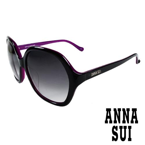 Anna Sui 日本安娜蘇 復古時尚太陽眼鏡 (黑+紫) AS803-007