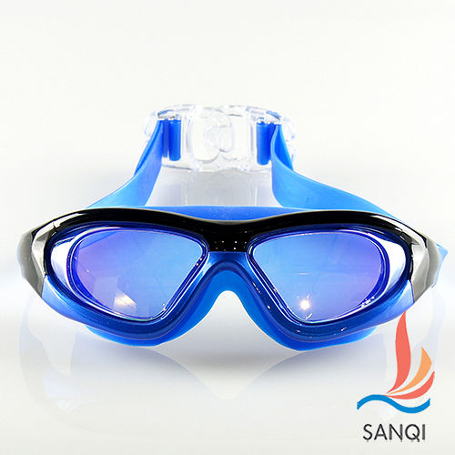 【SANQI三奇】夏日必備全景抗UV防霧休閒泳鏡
