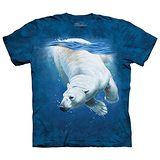 【摩達客】(預購)(大尺碼3XL)美國進口The Mountain 潛水北極熊 純棉環保短袖T恤