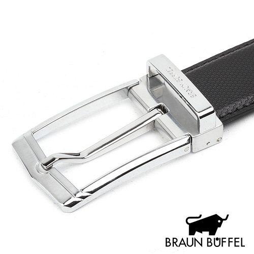 BRAUN BUFFEL 小金牛紳士穿針式皮帶 BF15B-010-NK