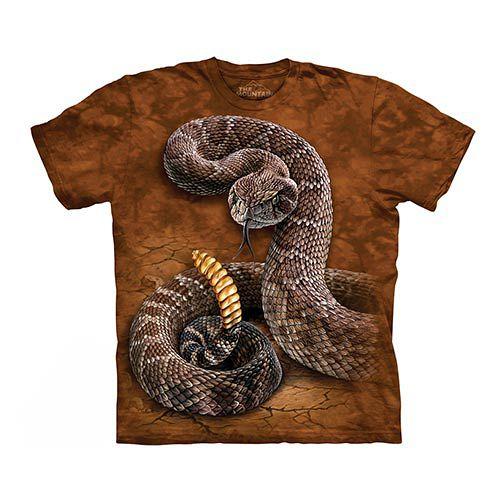 ~摩達客~    大 3XL 美國 The Mountain 響尾蛇 純棉環保短袖T恤